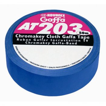 Advance  AT203 Chromakey Gaffa Tape / blau